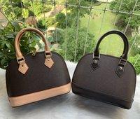 Top qualité ALMA BB PM Shell Sac Femmes véritable sac à main en cuir fleur Sacs à bandoulière embossé sacs à main design serrure sac à bandoulière de 25cm