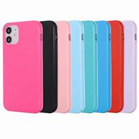 아이폰 12 프로 11 프로 11 프로 최대 광택 캔디 솔리드 다채로운 커버 크리스탈 실리콘 패션 블링 전화 고무 젤 피부에 대한 소프트 TPU 케이스