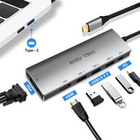 HUB USB OTG 3.0 USB C HUB HDMI 3 Port Splitter Multi USB 3.0 Type C Hub USB-C Hab VGA Adaptateur C Dock pour Accessoires MacBook Pro