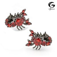IGAME Scorpion Gemelli 2 colori Opzione Cool Vintage Luxury Handmade Crystal Design Qualità Brass Polsino