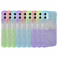Shockproof Bling Glitter Gradient Case For Iphone 12 5. 4 6. 1...