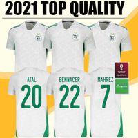 2021 TOP ALGERIO MAHREZ Две звезды Футбольные изделия 20 21 Атал Детей Bennacer Brahimi Home Slimani Футбольные рубашки Maillot de Foot