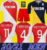 2021 Monaco 축구 유니폼 Keita Balde Ben Yedder Gelson 2020 2021 홈 Fabreags Golovin 축구 셔츠