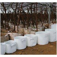 Plantadores Suprimentos Pátio, Gramado Home Drop Delivery 2021 Potenciômetros de Tela Árvore Não Tecida Crescer Saco Com Punho Raiz Plants Plants Mudding