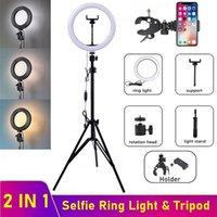 Dimmable LED Selfie Кольцо Fill Light Телефон Камера Светодиодная Кольцевая Лампа с штативом для Макияж Видео Живая Кольцевая Лампа Tik Tok Фотография