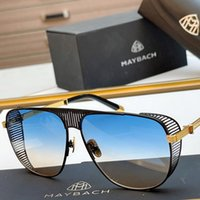 Sunglasses de marque Maybach The Vision II Maybach Lunettes de soleil Top Quality Miroir Gafas Oculos Vintage Hommes Femme Lunettes de soleil à la mode rétro pour l'homme