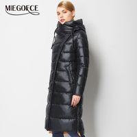 Miegofce Moda Ceket Ceket kadın Kapüşonlu Sıcak Parkas Bio Fluff Parka Coat Yüksekliği Kaliteli Kadın Yeni Kış Koleksiyonu 201006