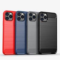 Lüks Moda Karbon Fiber Durumda Samsung Galaxy S21 Ultra S20 S10 Artı 9 8 Mat Yumuşak Silikon Ince Kılıf Kapak Not 20 Ultra S21Plus