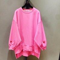 Chicever Spring Вышивка женская Толстовка для женщин Топ Пуловеры Batwing Рукава Свободные Большие Размер Толстовки Одежда 201204