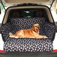 SUV جذع مقعد غطاء مطبوعة أسود للماء أكسفورد القماش pet وسادة الكلب سيارة حصيرة منصات 201125