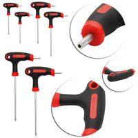 T-Handle Grip Torx & Hex Allen Key Screwdriver Driver Tool T10/15/20/25/30/40