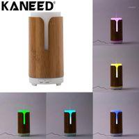Humidificateur d'air de voiture de voiture Kaneed J80 Mini Coloré LED Light 100ML Humidificateur d'air Bamboo pour la maison Office1