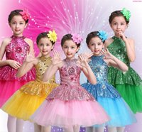 Etapa desgaste ballet tutu vestido niñas gimnasia leotard dancewear ropa niños bailarina traje descuento tutus