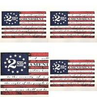 2ª Emenda Vintage Bandeira Americana Bandeira Ao Ar Livre Bandeira 90cm * 150 cm Poliéster personalizado EUA colégio Basketball bandeiras CYZ2769 7 N2