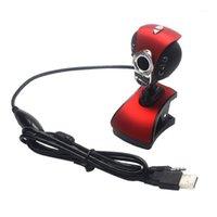 Webcams Bilgisayar Kameraları USB 2.0 Ücretsiz Drive Gece Görüş PC Kamera HD Webcam Web Kamera ile Mic ile Laptop Camera1