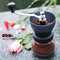 Hohe qualität manuelle keramik grat kaffeeschleifer handmühle espresso bohnen schleifmaschine kaffee mühlen grinder meer versand hhe3805