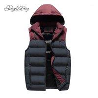 Erkek Yelekler Davydaisy 2021 Varış Sonbahar Kış Yelek Erkekler Sıcak Kolsuz Kapşonlu Aşağı Ceket Patchwork Moda DCT-2491