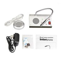 Dual Way Window Counter Interfono Interphone Finesch Altoparlante per Bank Station Business Store Security System System1