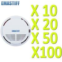 الشحن مجانا! 10PCS عالية الحساسية نظام الأمن الرئيسية لاسلكية لاسلكي كاشف دخان الحريق معدات الإنذار