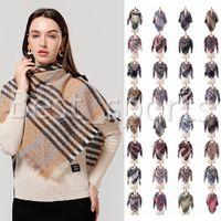 39 couleurs Mode Femmes Plaid Foulards Grille Tassel Châle hiver imitation cachemire Lattice Triangle Couverture Foulard écharpe CYZ2851