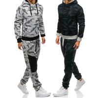 Chándal de los hombres para hombre chándal de moda con capucha de moda Hombres conjuntos de camuflaje para jóvenes Sports Traje de ocio Sweetpants