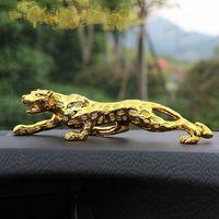 100 cm Ornamenti del leopardo di 100 cm Decorazione dell'automobile della stanza della casa della stanza della casa Zhaocai Regali di apertura Soggiorno Cabinet TV Artigianato animale Artigianato