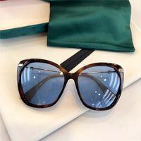 0510 nuevas damas de alta gama estilo sencillo populares placa de ojo de gato marco de fotograma completo de la moda gafas de sol de los vidrios de alta calidad UV400 cristal protector