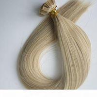 150 шт. 150 г предварительно связанного плоского наконечника наращивания волос 18 20 22 24 дюйма M27613 Бразильский индийский реми REMY Кератин наращивание волос человека