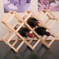 Baldes de gelo e refrigeradores Kecttio Wooden Red Wine Rack 3/6/10 Garrafa Mount Titular Exposição Organizador 1