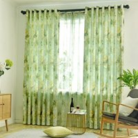 Semi Shading Green Curtains For Living Room Bedroom Window C...