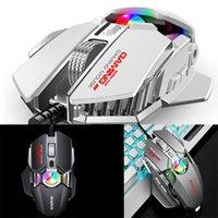 KCPDS Gaming Mouse Ergonomic Проводная мышь 8-ключ LED 3500 DPI Оптический программируемый USB Компьютер Macro Wired Gaming Wit1