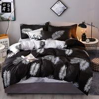 4pcs / Set Literie Set 19 Style Produits ménagers Aloe Coton Lit Ensemble de feuilles Plaid Modern Bed Feuille Taie d'oreiller Couverture DuVet 201114