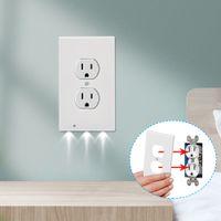 Plug Cover Led Night Light PIR Motion Sensor Sensor Lights di sicurezza Angelo Outlet Outlet Corridoio Camera da letto Lampada da bagno