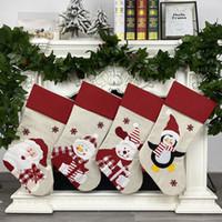 Nouveau Bas de Noël Chaussettes de Noël cadeau de Noël Sac bonbons Noel Décorations Nouvel An Natal Navidad chaussette de Noël Ornement RRA3812 Arbre