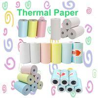 التسمية صورة الحرارية ورقة ملصقا ورقة ملونة لفة 57 * 30 ملليمتر للطابعة المحمولة الطابعة المحمولة peripage a6 / a8 paperang p1 / p2