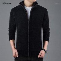 Liseaven Sweater grosso Quente para Mens Cardigan Slim Fit Jumpers Knitwear Outono Quente Estilo Coreano Roupas Casuais Homens Cardigans1