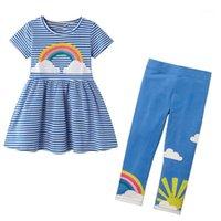 Little Maven Girls Boutique Outfits 2020 Rainbow Kleinkind Mädchen Kleidung Set Kinder Sommer Boutique Outfits Kits für Baby1
