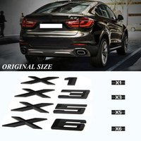 Etiqueta engomada de troncal de automóvil compatible duradera para BMW E90 E60 E46 E39 E83 F25 F15 F16 F85 F48 E53 E70 E84 X1 X3 X5 X6 X6 Pegatina de letra