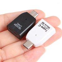 Adaptadores de telefone celular Mini Tipo C Micro Leitor de Cartão de Memória TF Adaptador OTG USB 3.1 Portable1