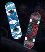 Skiteboard Double Rocker Four-Wheel Scooter مع مجموعة متنوعة من الأساليب، التكوين والجمله مخصص لوح التزلج