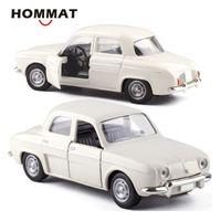 Hommat Simulation 1:43 Vintage Willys Dauphine Modell Auto Legierung Diecast Spielzeug Fahrzeug Auto Modell Geschenk Autos Spielzeug für Kinder Jungen LJ200930
