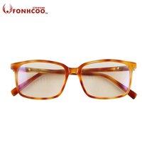 선글라스 Fonhcoo 브랜드 디자이너 컴퓨터 안경 노란색 렌즈 고품질 고글 안티 블루 레이 복사 보호 게임