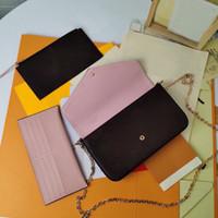 المغلفة قماش 3 متعددة pochette المطبوعة مع الحقيبة النمطية زهرة الكلاسيكية لتنوع وتنظيم حقيبة الفاصل اليومية حقيبة القابض