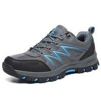 2019 Sıcak Unisex Erkekler Hiking Ayakkabıları Su Geçirmez Deri Ayakkabı Tırmanma Balıkçılık Çift Açık Ayakkabı Severler Sneaker Chaussure Homme