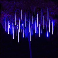 30cm 50cm Waterproof Meteor Shower Rain 8 Tube LED String Lights For Outdoor Holiday Christmas Decoration Tree 201102