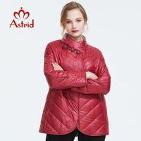 Astrid Outono nova mulheres chegada jaqueta top cor vermelha outerwear de alta qualidade estilo curto mulheres revestimento do outono AM-6145 201014