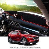 Tableau de bord de la carton d'automobile Évitez la plate-forme de la plate-forme de la plate-forme de la lumière Rose pour CX-5 KF 2017-Présent LHDRHD anti-poussière MAT1