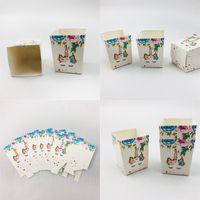 유니콘 사탕 상자 만화 인쇄 다채로운 팝콘 상자 화이트 페스티벌 랩 작은 간식 종이 케이스 새로운 도착 3JW L1