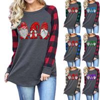 T-shirt da donna T-shirt da donna a maniche lunghe a maniche lunghe carina natale Top a maniche lunghe a maniche lunghe