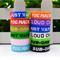 Gravure Letter Vape band with colorful silicone rubber rings...